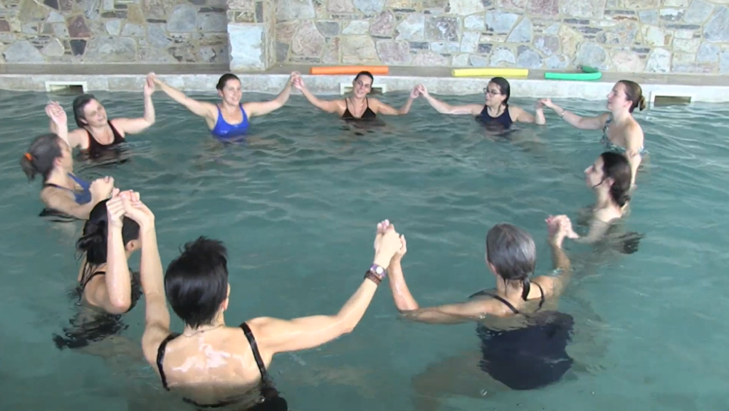 Aqua yoga circle